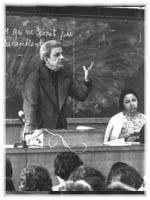 Jacques Lacan geeft les